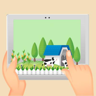 주택과 농지를 확인하자를 표현하는 이미지